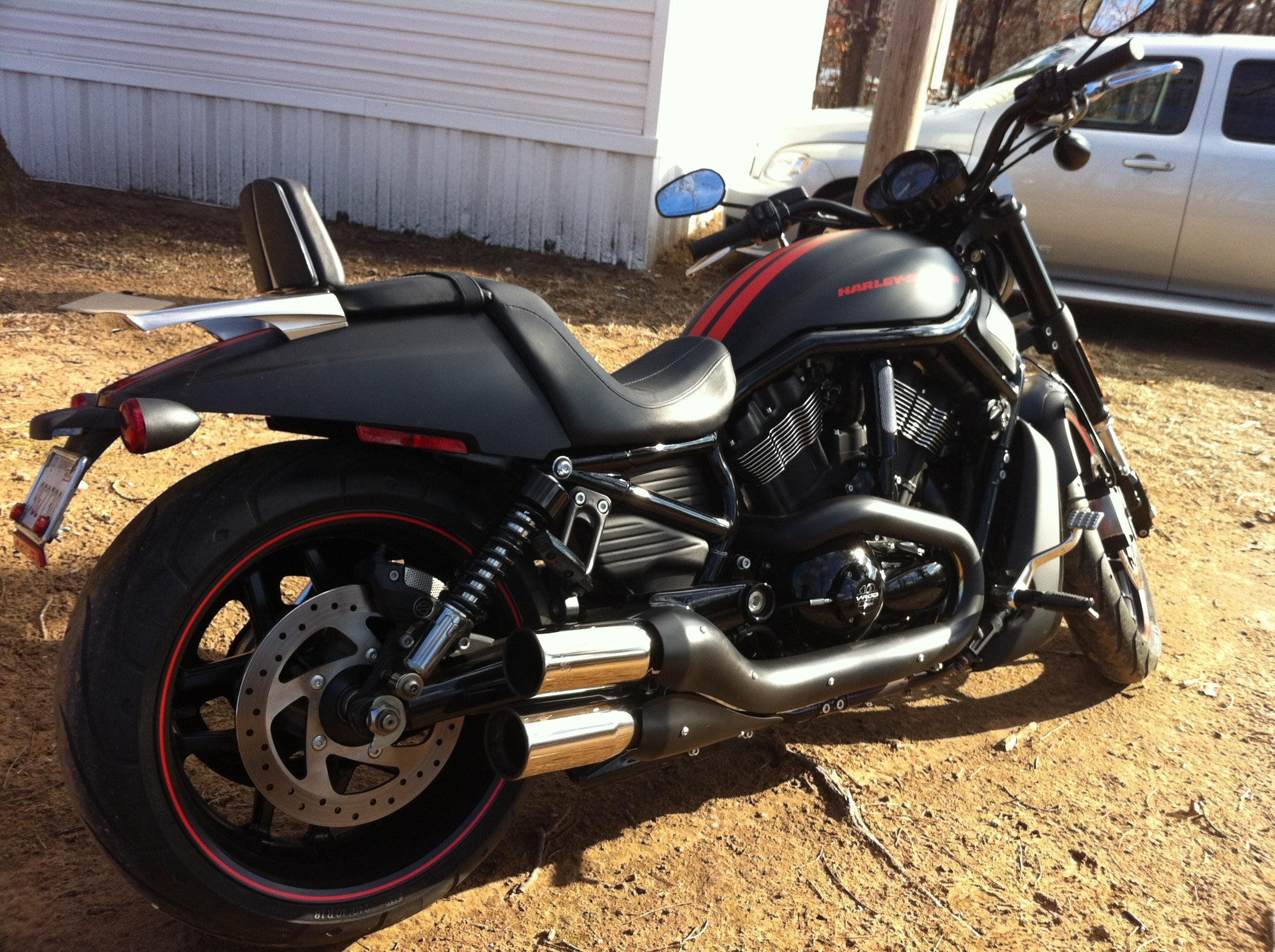 Vrscdx Back Rest And Luggage Rack Harley Davidson V Rod Forum
