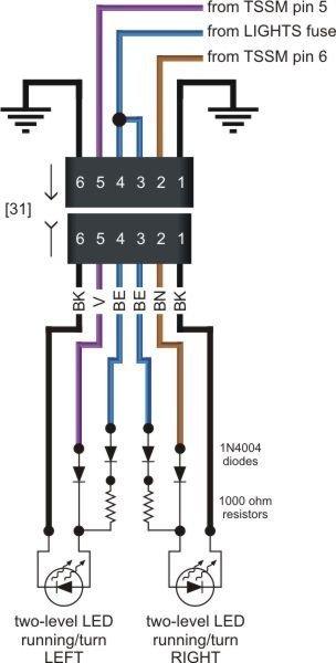 wiring front led turn signals the 1. Black Bedroom Furniture Sets. Home Design Ideas