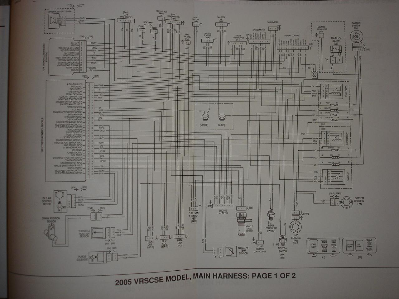 vrscse wiring diagram   harley davidson v-rod forum  v-rod forum