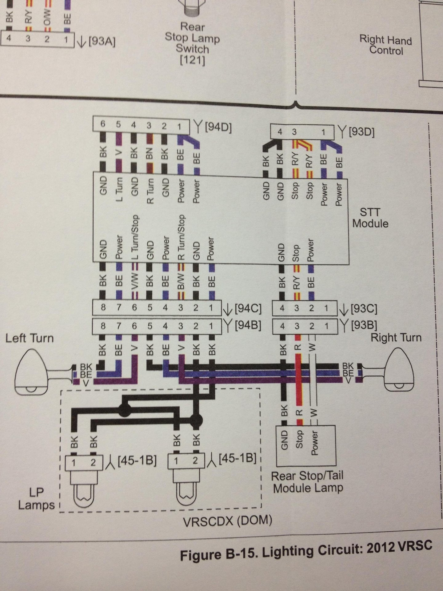 Turn Signals Rewire | Harley Davidson V-Rod Forum | Turn Signal Wire Diagram 6 |  | V-Rod Forum