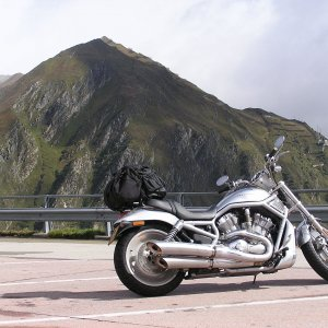 V-Rod on the Mont Blanc