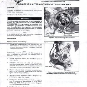 28t Pulley Kit Install Instructions Pg1/3
