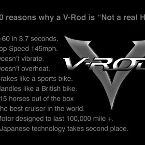 Top 10 Reasons A V-rod Is Not A Real Harley