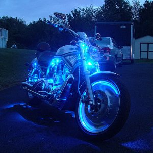 my v-rod at night