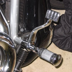 Chrome Brake Pedal and Footpeg