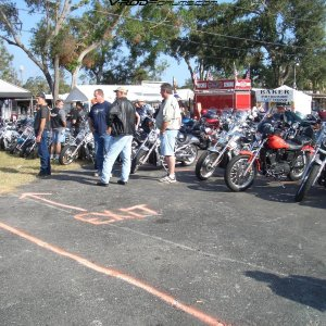 Gathering for the ride to St. Augustine