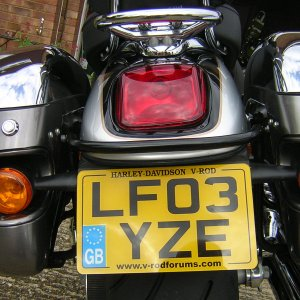 Number Plate with v-rodforums.com