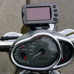 Garmin 2720 Gps Mounted On 06 Vrscr