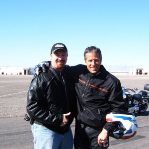 Nick Ienatsch and me at LVMS 2007