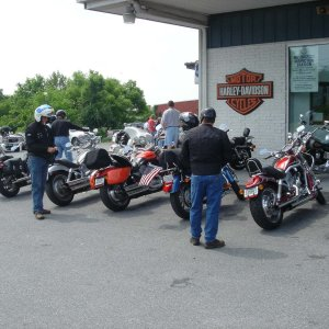 Our first stop . . . Winchester Harley Davidson