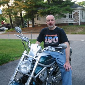 Home after 800 mile ride in the middle of the night June 2005